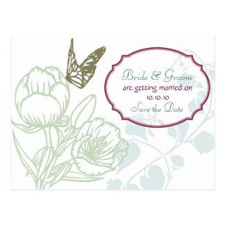 Reserva del boda de la dicha de la primavera Peon Postales