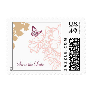 Reserva del boda de la dicha de la primavera sello postal