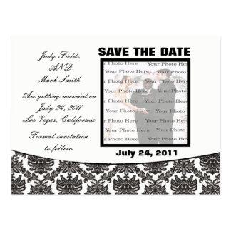 Reserva del boda de la elegancia del damasco la postal
