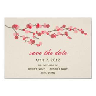 """Reserva del boda de la flor de cerezo de la invitación 3.5"""" x 5"""""""