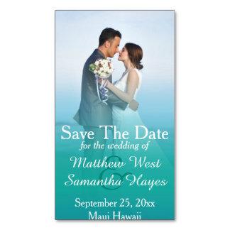 Reserva del boda de la foto de la niebla del tarjetas de visita magnéticas (paquete de 25)