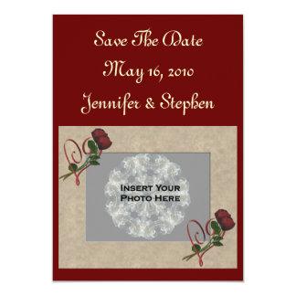 Reserva del boda de la foto de los rosas rojos la comunicado