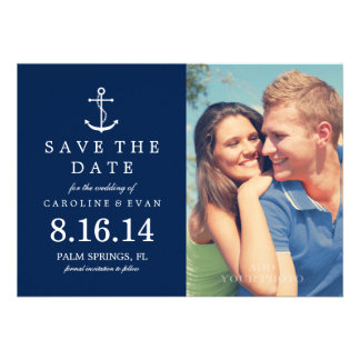 Reserva del boda de la foto del ancla la fecha az anuncio personalizado