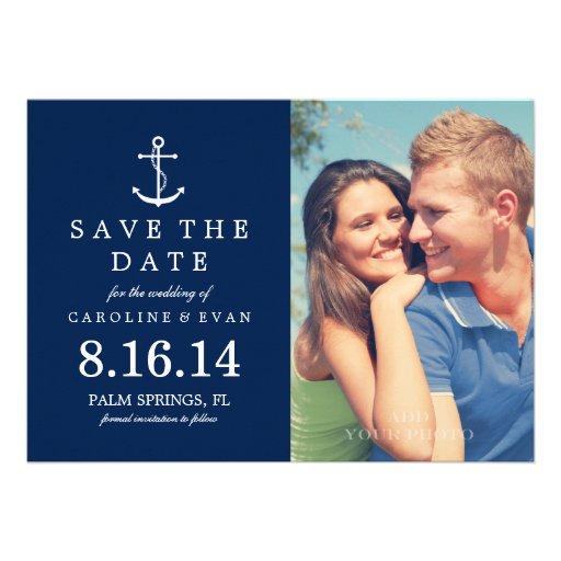Reserva del boda de la foto del ancla la fecha {az anuncio personalizado