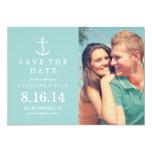 Reserva del boda de la foto del ancla la fecha invitaciones personales