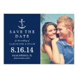 Reserva del boda de la foto del ancla la fecha anuncio personalizado