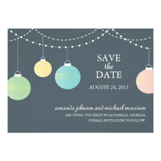 Reserva del boda de la linterna de papel la fecha comunicados personales