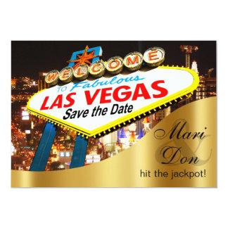 """Reserva del boda de la muestra de Las Vegas la Invitación 5"""" X 7"""""""