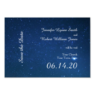 """Reserva del boda de la noche estrellada la fecha invitación 3.5"""" x 5"""""""