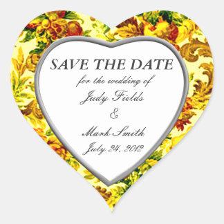 Reserva del boda de la primavera los pegatinas de pegatina en forma de corazón