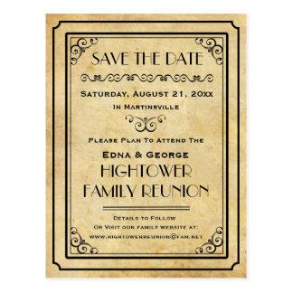 Reserva del boda de la reunión de familia del tarjetas postales