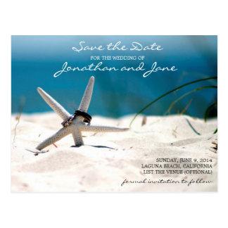 Reserva del boda de las estrellas de mar de los an tarjetas postales