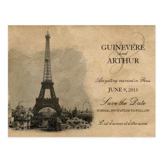 Reserva del boda de París Francia del vintage la f Tarjeta Postal