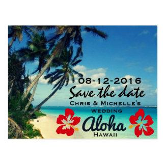 Reserva del boda de playa de Hawaii las postales d