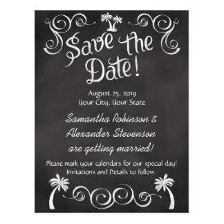 Reserva del boda de playa de la palmera de la tarjetas postales