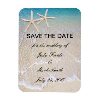 Reserva del boda de playa de las estrellas de mar imanes flexibles