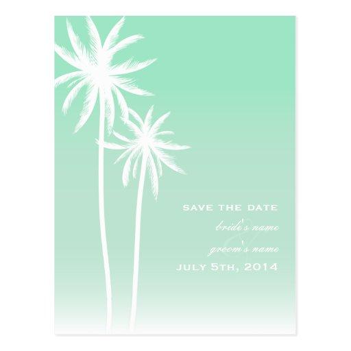Reserva del boda de playa de las palmeras de Ombré Postales