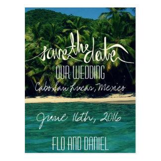 Reserva del boda de playa de México la fecha Tarjeta Postal