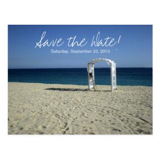 Reserva del boda de playa del destino la postal de