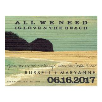 Reserva del boda de playa del destino las postales
