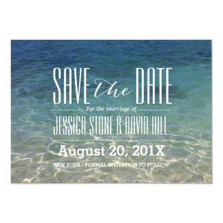 """Reserva del boda de playa la fecha invitación 5"""" x 7"""""""