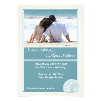 Reserva del boda de playa la invitación de la