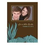 Reserva del boda de playa la postal de la foto de