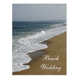 Reserva del boda de playa la postal de la invitaci