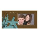 Reserva del boda de playa la tarjeta de la foto de tarjeta personal con foto