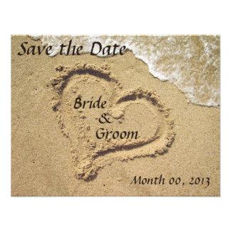 Reserva del boda de playa las invitaciones de la f invitación