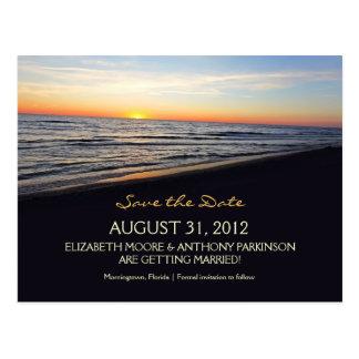 reserva del boda de playa las postales de la fecha