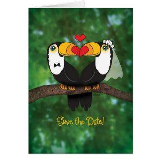 Reserva del boda de Toucan la tarjeta de
