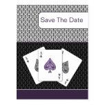 reserva del boda de vegas de los as de la púrpura  postales