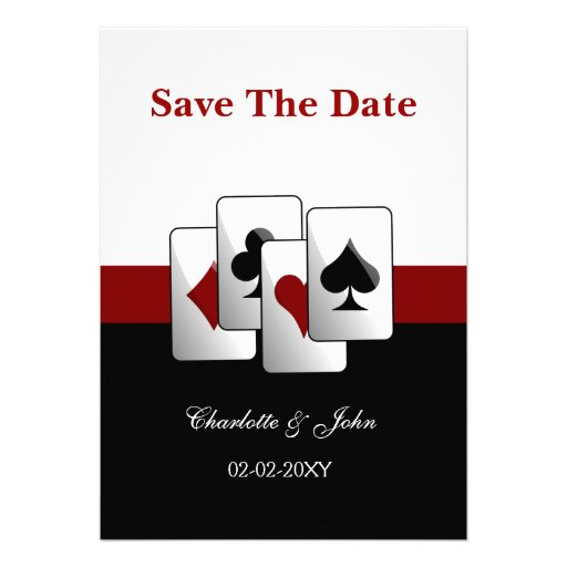 Reserva del boda de Vegas la invitación de la fech