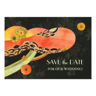 Reserva del boda de Washi del japonés las invitaci