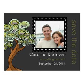 Reserva del boda del árbol de Eco la fecha Postales
