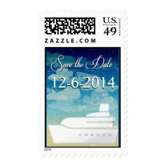 Reserva del boda del barco de cruceros la fecha sello