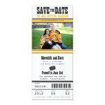 Reserva del boda del boleto del hockey la fecha invitación 10,1 x 23,5 cm