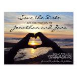 Reserva del boda del corazón del amor del océano d tarjetas postales