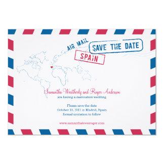Reserva del boda del correo aéreo de España la Invitacion Personal