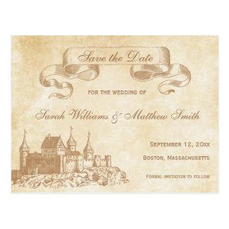 Reserva del boda del cuento de hadas la postal de