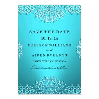 Reserva del boda del damasco del vintage del invitacion personalizada