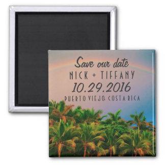 Reserva del boda del destino de Costa Rica la Imán Cuadrado