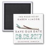 Reserva del boda del destino de Jamaica la fecha Imán Cuadrado