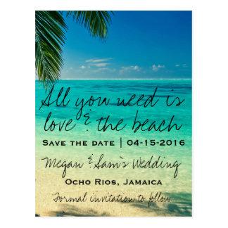 Reserva del boda del destino de Jamaica la fecha Tarjetas Postales