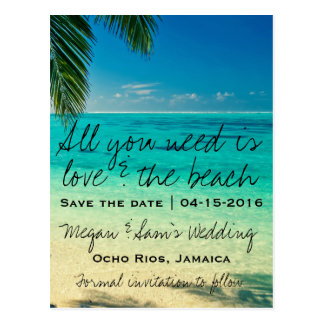 Reserva del boda del destino de Jamaica la fecha Postal