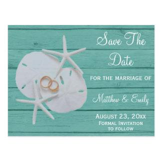Reserva del boda del destino de la playa las posta tarjetas postales