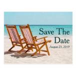 Reserva del boda del destino de las sillas de play tarjeta postal
