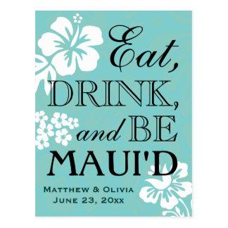 Reserva del boda del destino de Maui la postal de