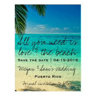Reserva del boda del destino de Puerto Rico la Tarjetas Postales
